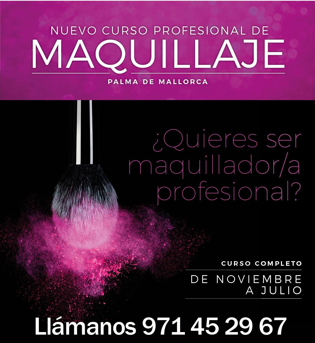 Curso de Maquillaje profesional en Palma de Mallorca