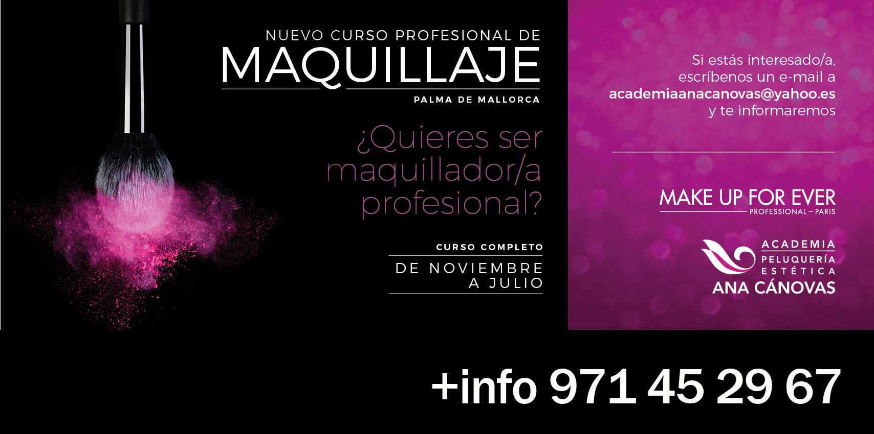 Curso Profesional de Maquilllaje en Palma de Mallorca